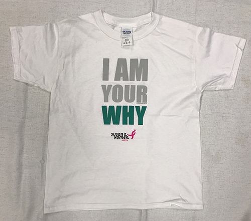 I am you why - T-shirt with Green lettering