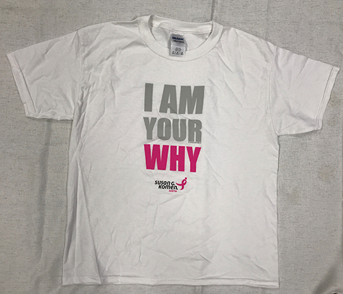 I am you why - T-shirt with Pink lettering