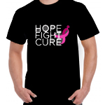 "Click here for more information about ""Hope Fight Cure"" Black Tee"