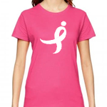 Click here for more information about Neon Pink Women's Performance Tee with Large Running Ribbon