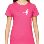 Click here for more information about Neon Pink Women's Tee with Small Running Ribbon